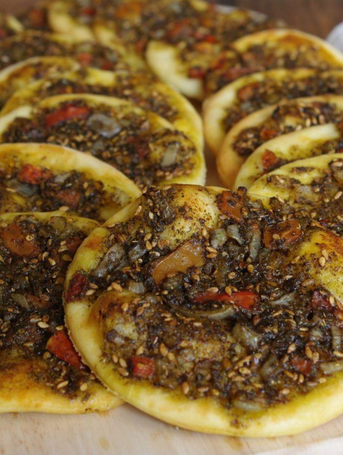 Abou Kamel's Man'oushe – Zaatar Pizza